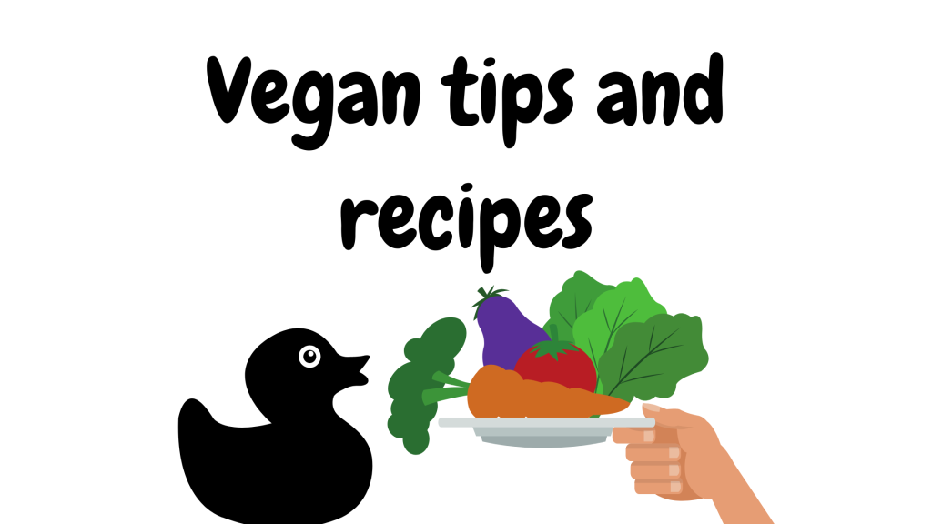 vegan tips and recipes