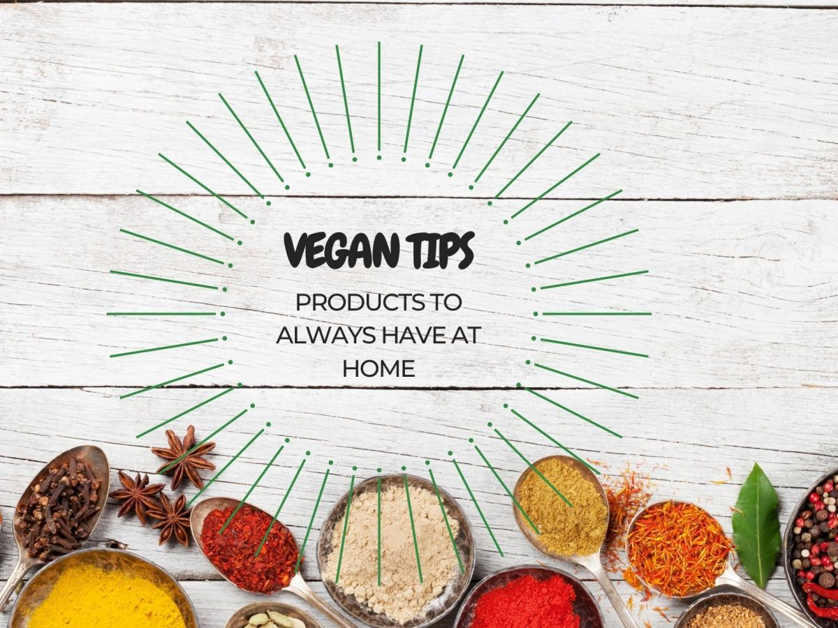 vegan products to always have at home