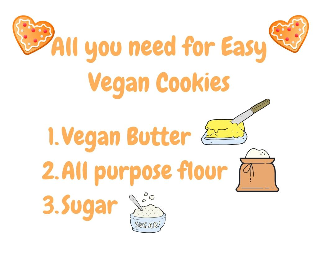 instructions and tips on making vegan cookies