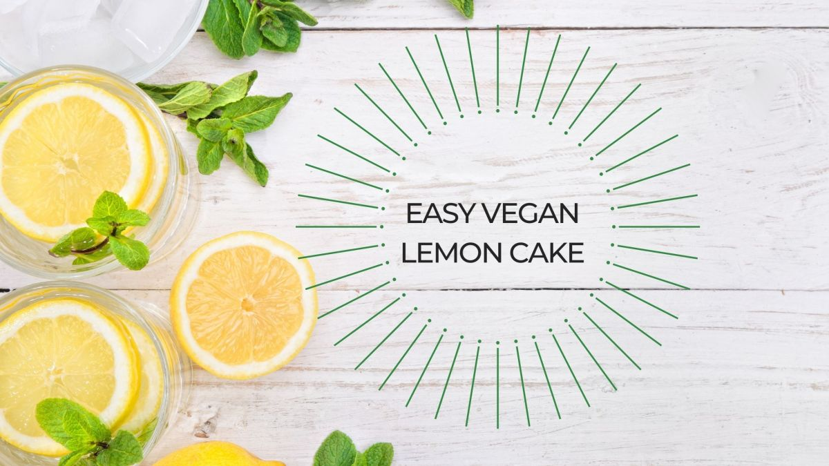 beginner vegan lemon cake